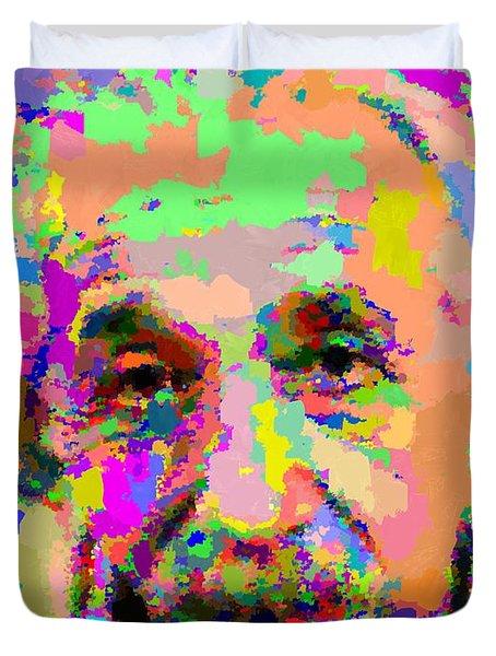 Albert Einstein - Abstract 03 Duvet Cover