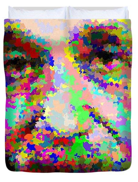 Albert Einstein - Abstract Duvet Cover