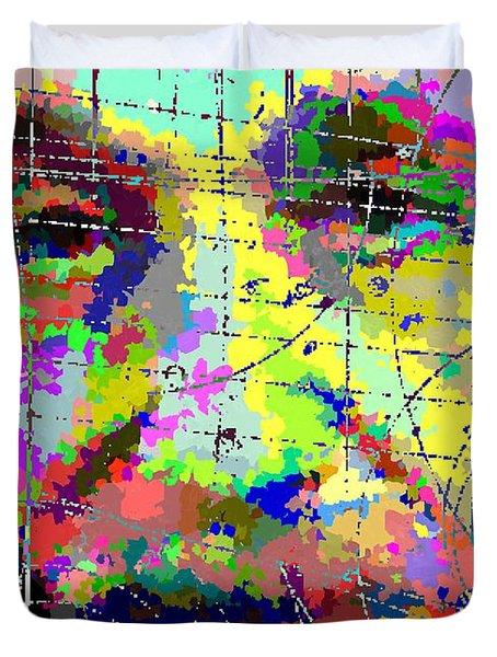 Albert Einstein - Atomic Particles 01 Duvet Cover