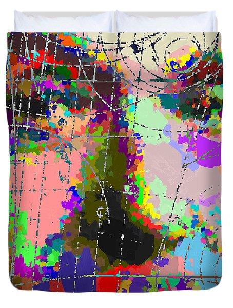 Albert Einstein - Atomic Particles  Duvet Cover