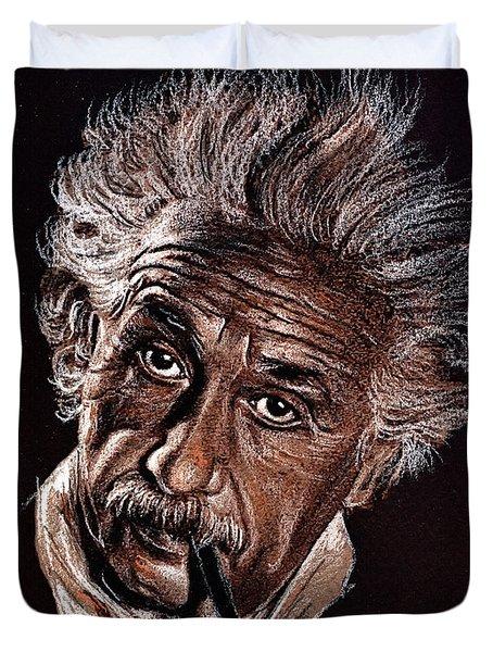 Albert Einstein Portrait Duvet Cover