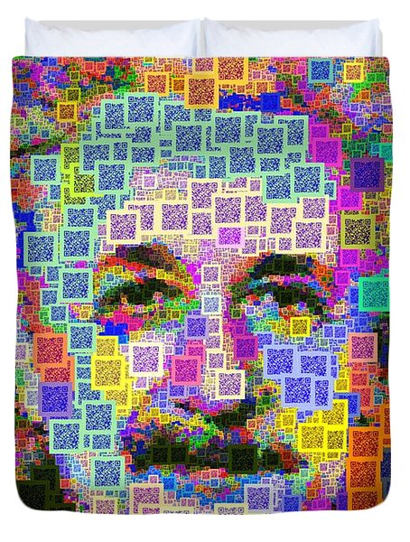 Albert Einstein - Qr Code Duvet Cover