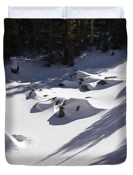 Alberta Falls In Estes Park Colorado Duvet Cover