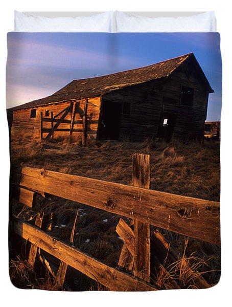 Alberta Homestead Duvet Cover by Bob Christopher