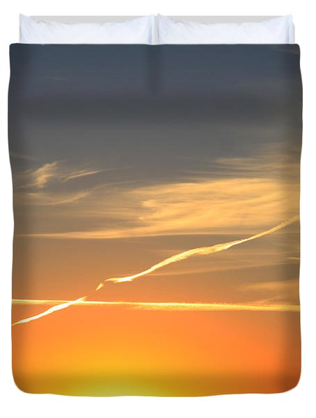 Alberta Sunset Duvet Cover by Alyce Taylor