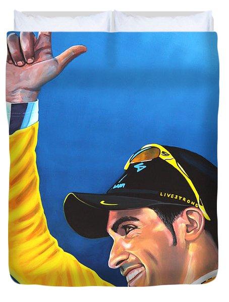 Alberto Contador Duvet Cover