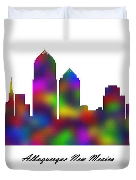Albuquerque New Mexico Rainbow Sandstone Duvet Cover