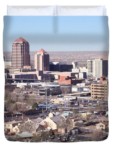 Albuquerque Skyline Duvet Cover by Bill Cobb