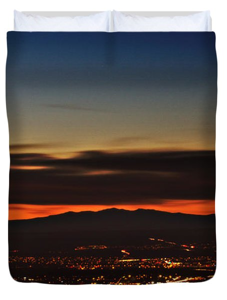 Albuquerque Sunset Duvet Cover by Marlo Horne