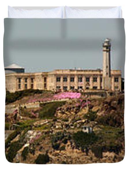 Alcatraz Panorama Duvet Cover