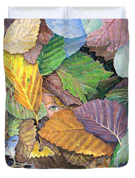 Alder Leaves And Faerie Duvet Cover