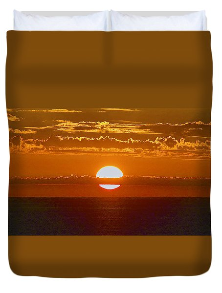 Aldinga Beach Sunset Duvet Cover