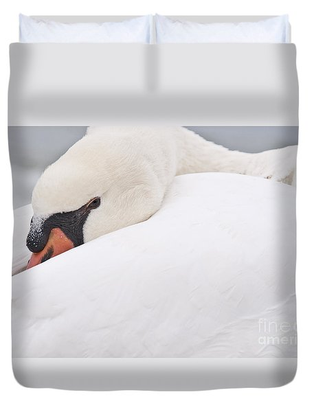 Duvet Cover featuring the photograph Alert Rest by Simona Ghidini