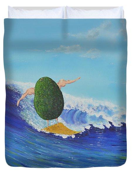 Alex The Surfing Avocado Duvet Cover
