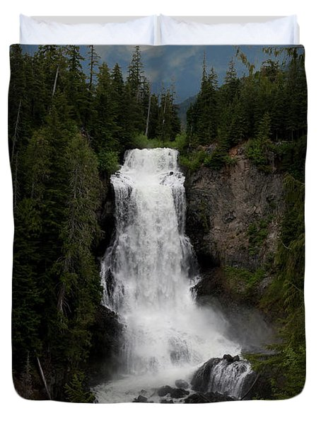 Duvet Cover featuring the photograph Alexander Falls by Rod Wiens