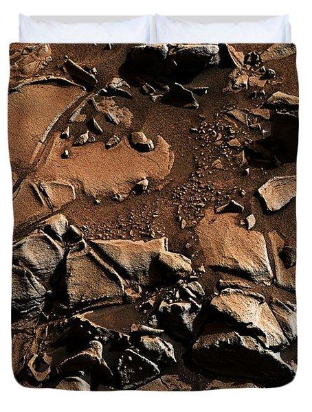 Alexander Hills Bedrock In Mars Duvet Cover