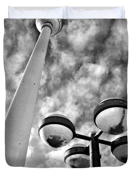 Alexander Platz - Berlin Duvet Cover by Luciano Mortula