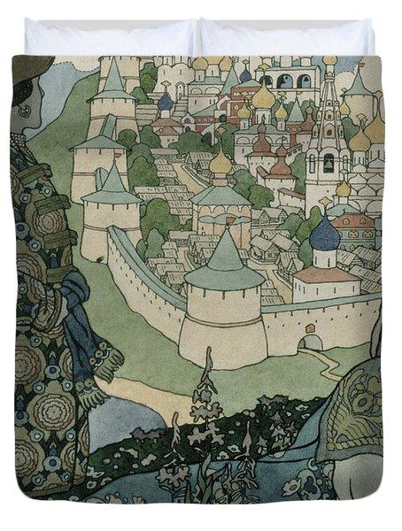 Alexander Pushkin's Fairytale Of The Tsar Saltan Duvet Cover