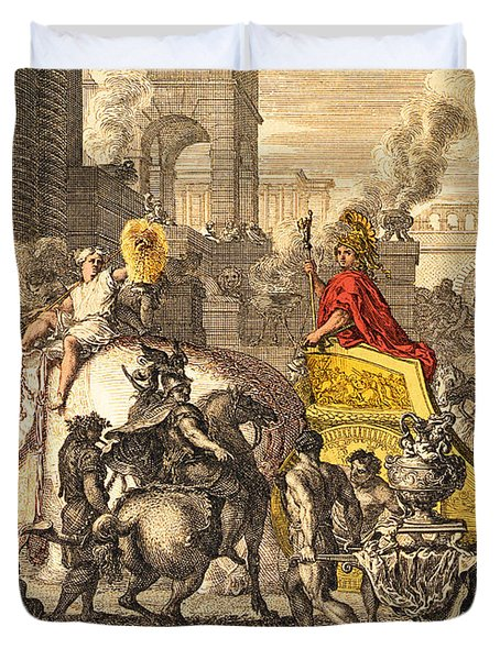 Alexander The Great Entering Babylon Duvet Cover by Getty Research Institute