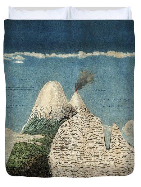Alexander Von Humboldts Chimborazo Map Duvet Cover