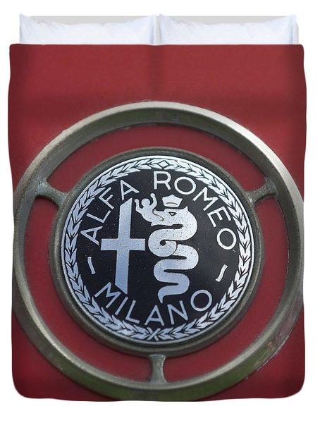 1961 Alfa Romeo Giulietta Sprint Veloce Series II Emblem -1045c Duvet Cover
