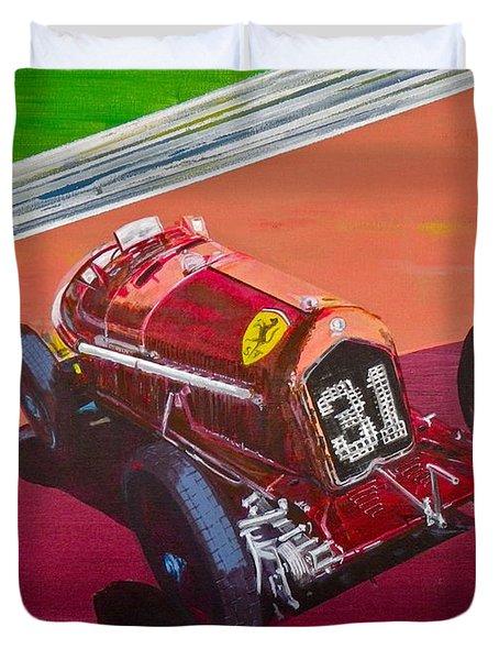 Duvet Cover featuring the painting Alfa Romeo Tipo B P3  by Anna Ruzsan