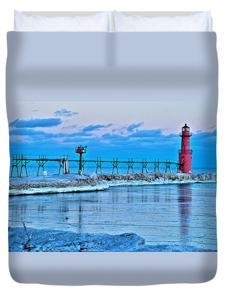 Algoma Light After Sunset Duvet Cover