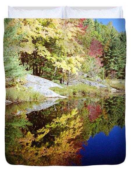 Algonquin Reflection Duvet Cover by David Porteus