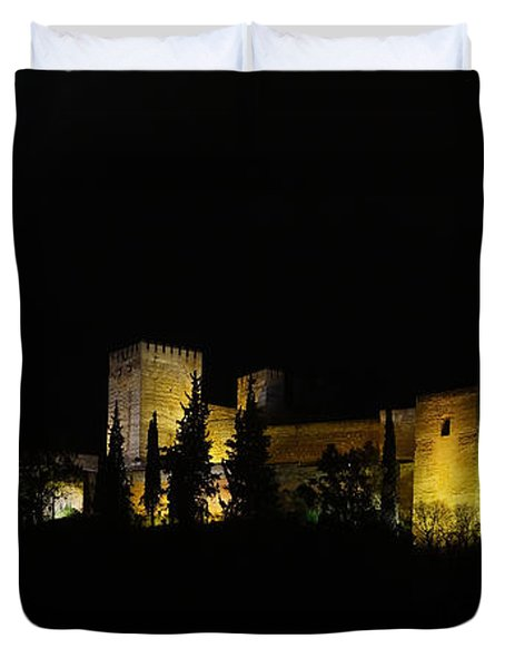 Alhambra At Night Duvet Cover by Rudi Prott