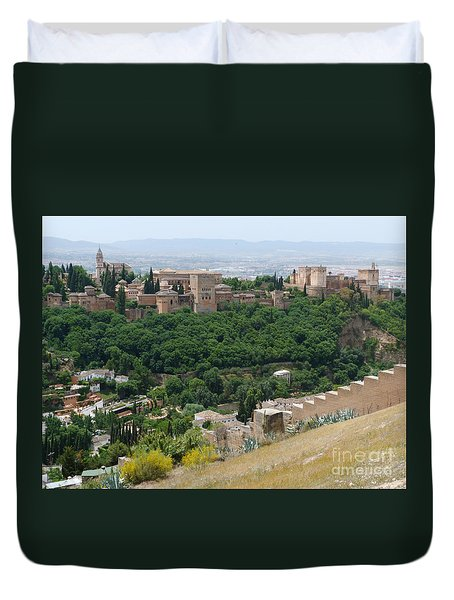 Duvet Cover featuring the photograph Alhambra Palace - Granada by Phil Banks
