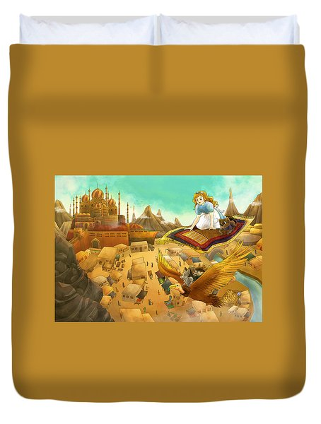 Ali Baba Cover Art Duvet Cover by Reynold Jay