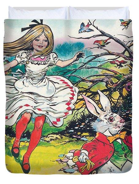 Alice In Wonderland Duvet Cover by Jesus Blasco