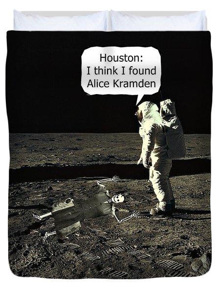 Alice Kramden On The Moon Duvet Cover