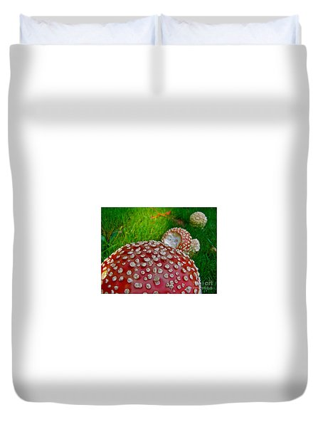 Alice's Shrooms Duvet Cover