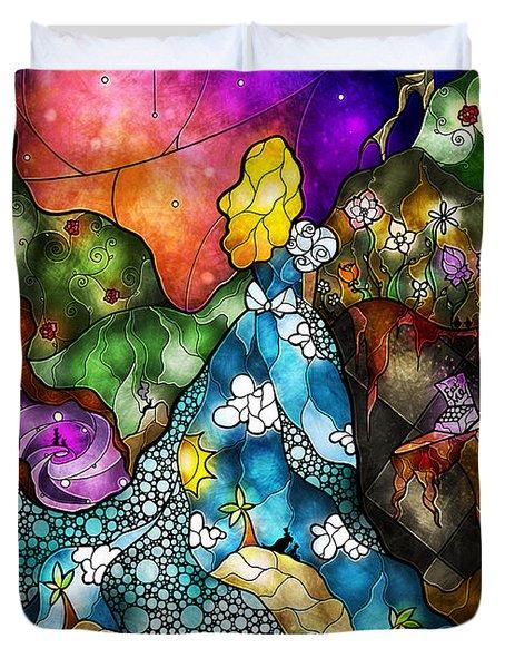 Alice's Wonderland Duvet Cover