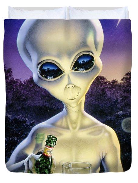 Alien Brew Duvet Cover by Steve Read
