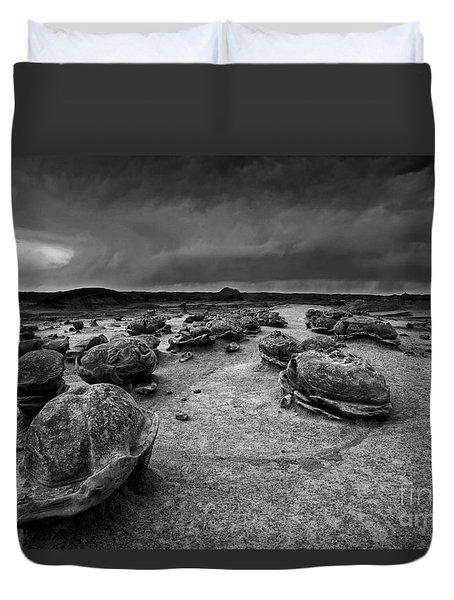 Alien Eggs At The Bisti Badlands Duvet Cover