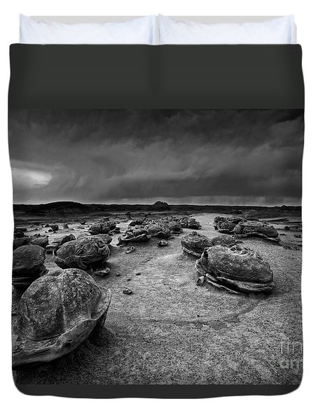 Alien Eggs At The Bisti Badlands Duvet Cover