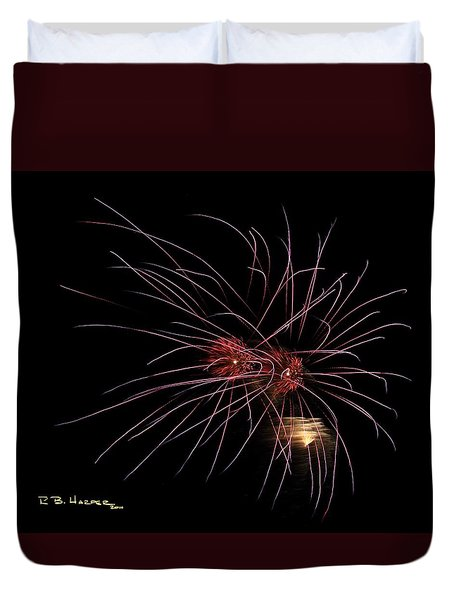 Alien Eyes - Fireworks At St Albans Bay Duvet Cover