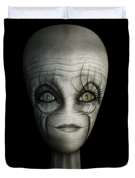 Alien Face Duvet Cover