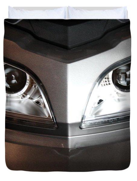 Alien Headlights  Can Am Spyder Motorcycle Duvet Cover