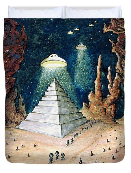 Alien Invasion - Space Art Painting Duvet Cover
