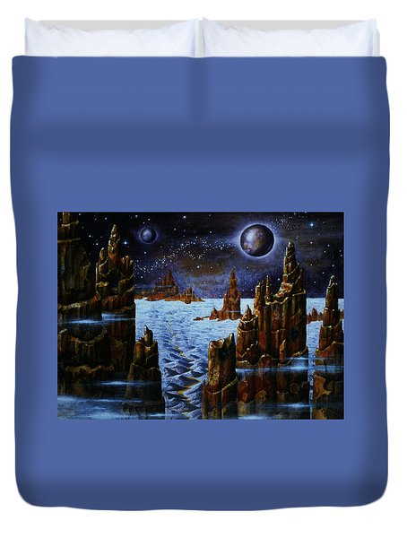 Ice Planet  Duvet Cover