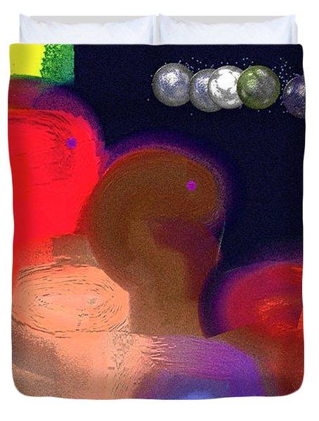 Alien Observations Duvet Cover by Lenore Senior
