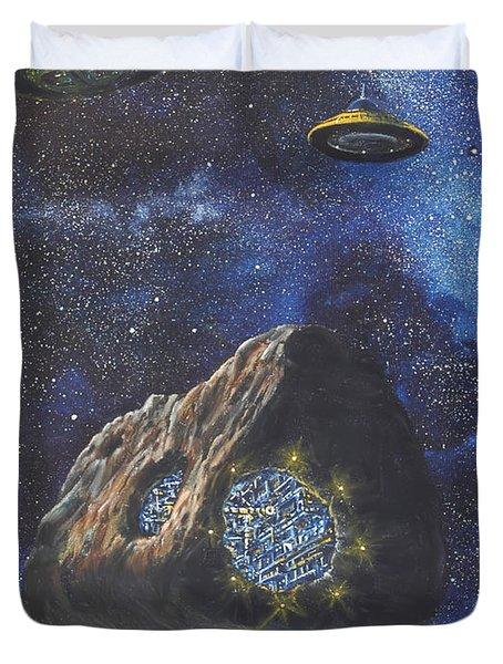 Alien Space Factory Duvet Cover by Murphy Elliott