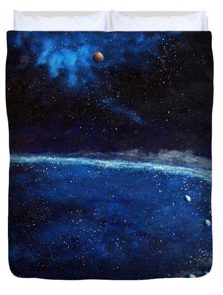 Alien Storm Duvet Cover by Murphy Elliott