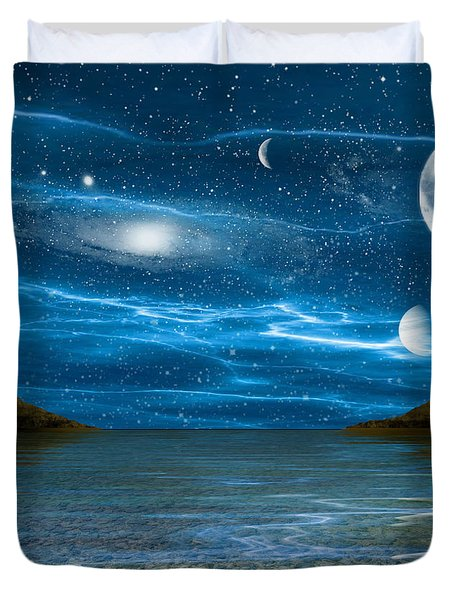 Alien Waterscape Duvet Cover by Brian Wallace