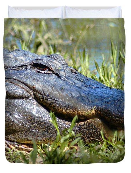Alligator Smiling Duvet Cover