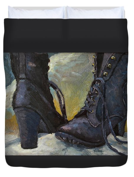 Ali's Boots Duvet Cover