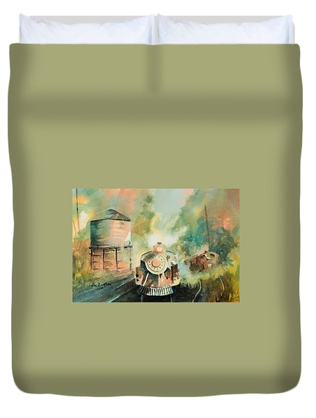 All Aboard Duvet Cover by Lee Beuther